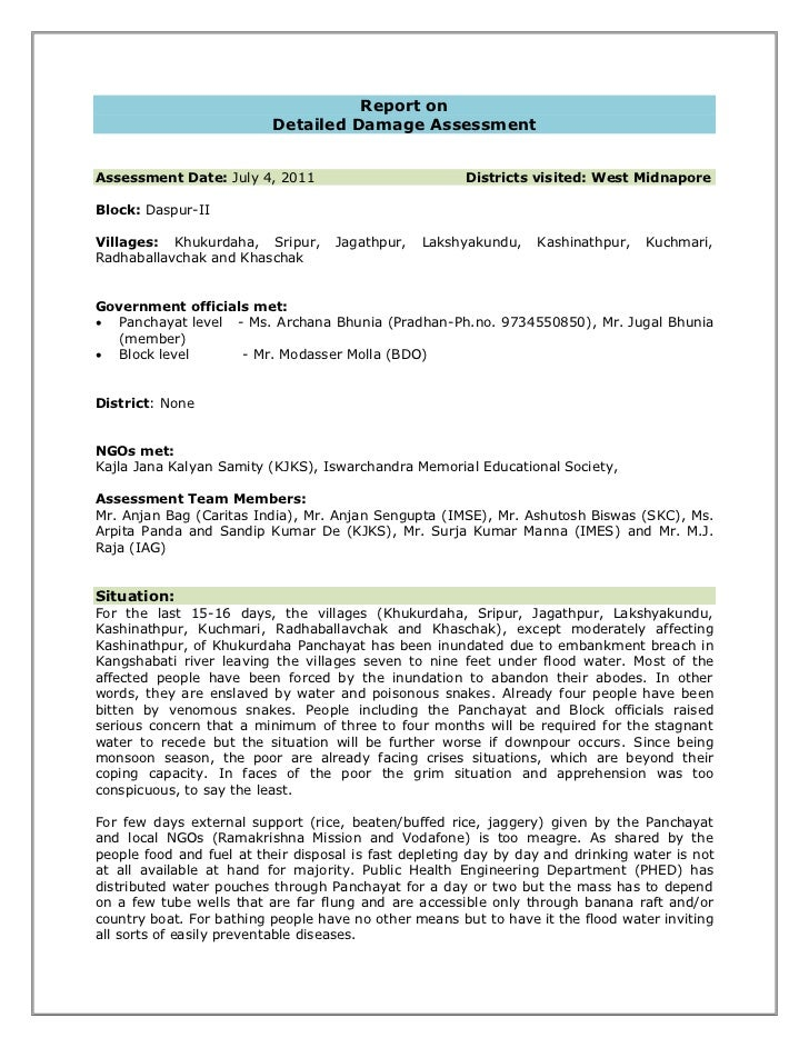Detailed  Assessment Report West Midnapore - 2011