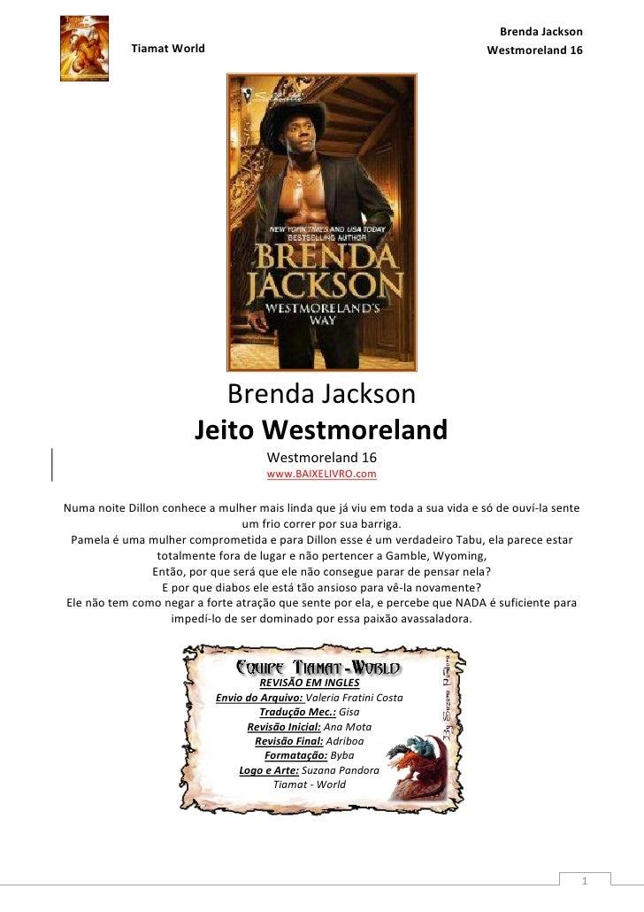 Brenda Jackson            Tiamat World                                                       Westmoreland 16              ...