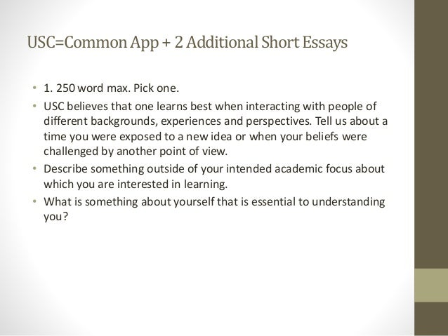 usc ets college application essay workshop usc commonapp 2additionalshortessays