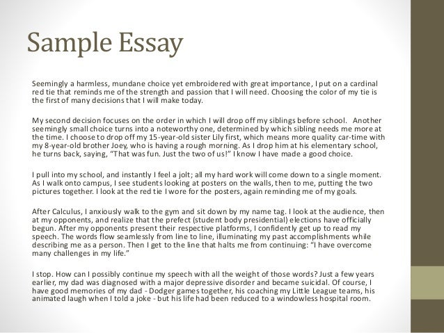 7. Sample Essay ...