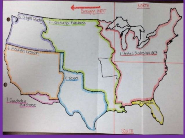 Westward Expansion and Sectionalism – Manifest Destiny Map Worksheet