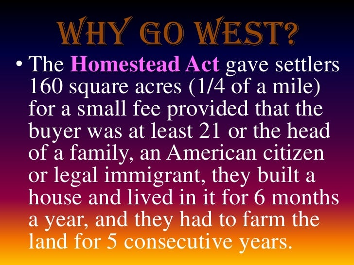 why the settlement expansions in america was westward after the end of the civil war Westward expansion after the civil war 1 westward expansion after the civil war eq: how was america transformed as a result of westward expansion.
