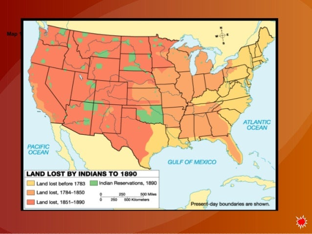 Westward Expansion And The American Indians - Map of the us before westward expansion