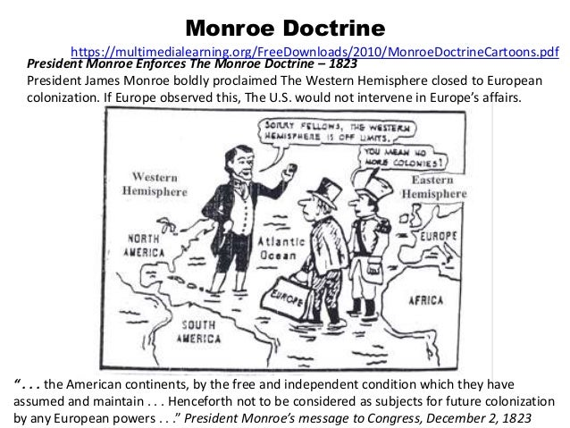 westward expansion pinellas version monroe doctrine