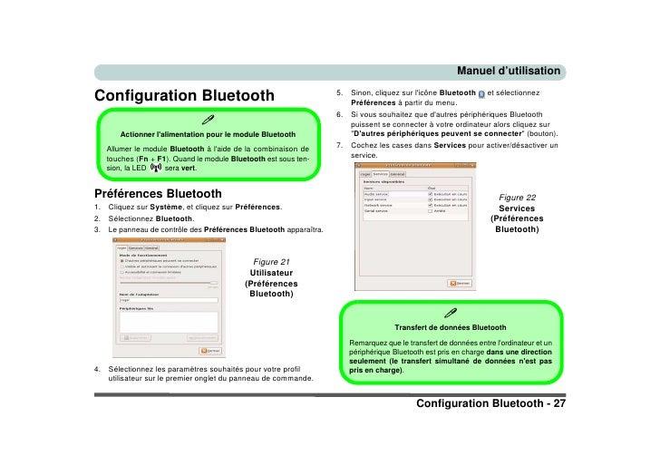 Manuel d'utilisation  Configuration Bluetooth                                             5.   Sinon, cliquez sur l'icône ...