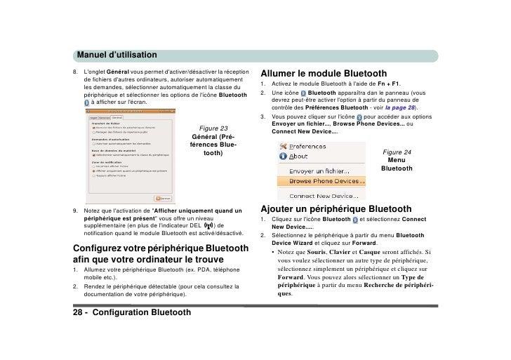 Manuel d'utilisation                                                                        Allumer le module Bluetooth 8....