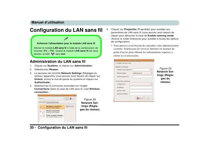 Manuel d'utilisation  Configuration du LAN sans fil                                       5.   Cliquez sur Properties (Pro...
