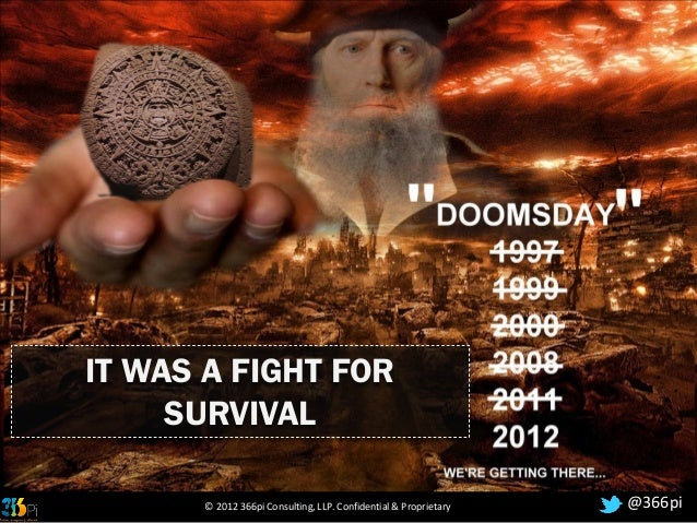 IT WAS A FIGHT FOR     SURVIVAL      © 2012 366pi Consulting, LLP. Confidential & Proprietary   @366pi