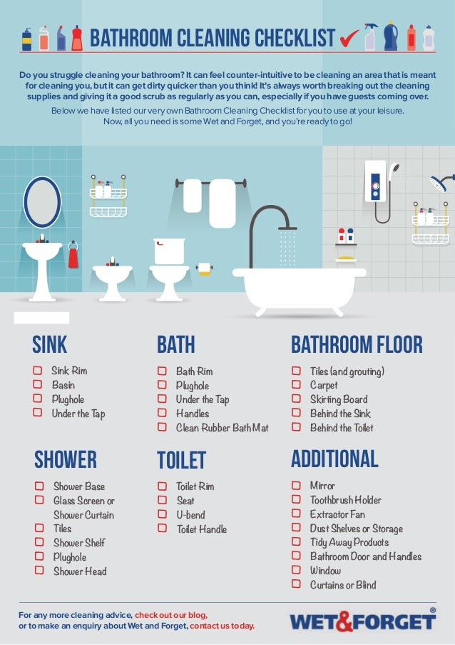 Bathroom Cleaning Checklist Do You Struggle Cleaning Your Bathroom? It Can  Feel Counter Intuitive