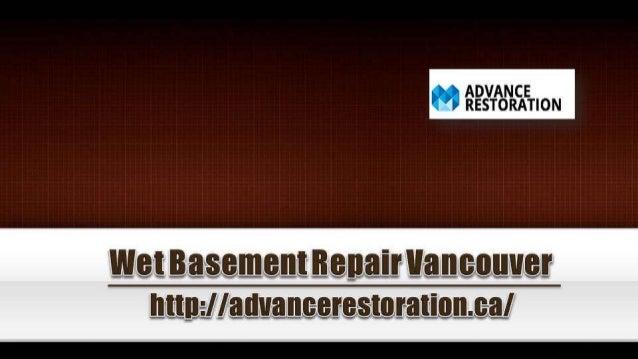 Wet Basement Repair Vancouver