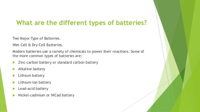 Wet  dry batteries