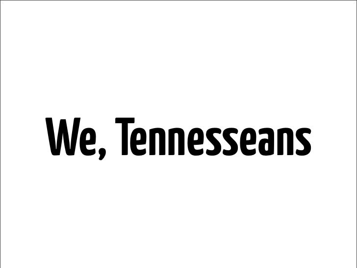We, Tennesseans