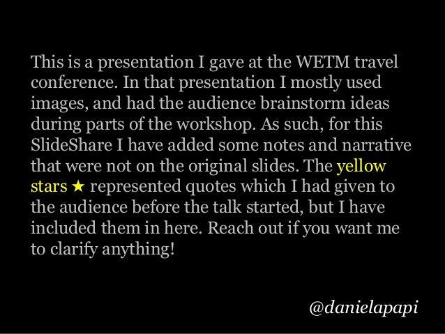 WETM Travel Presentation Slide 2