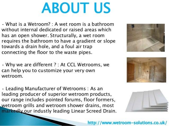 Wetroom solutions Slide 2