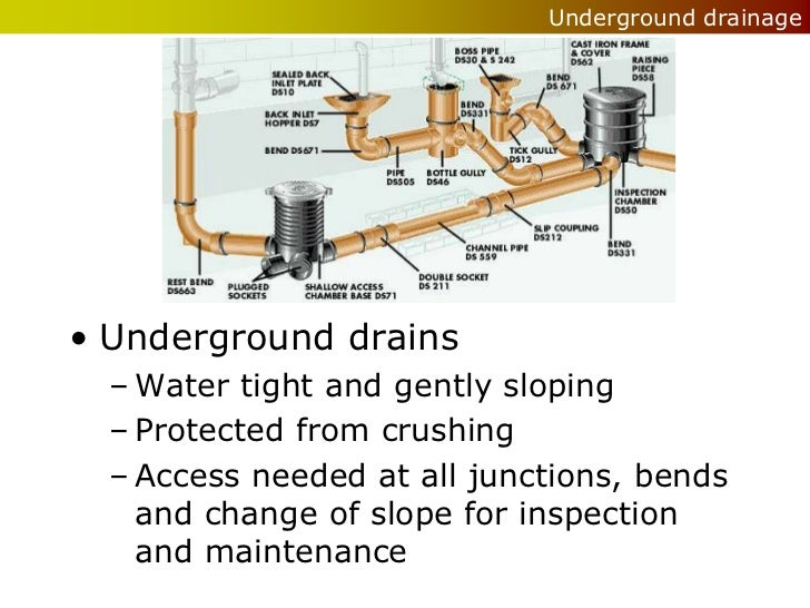 Wet services drainage for Below ground drainage systems explained