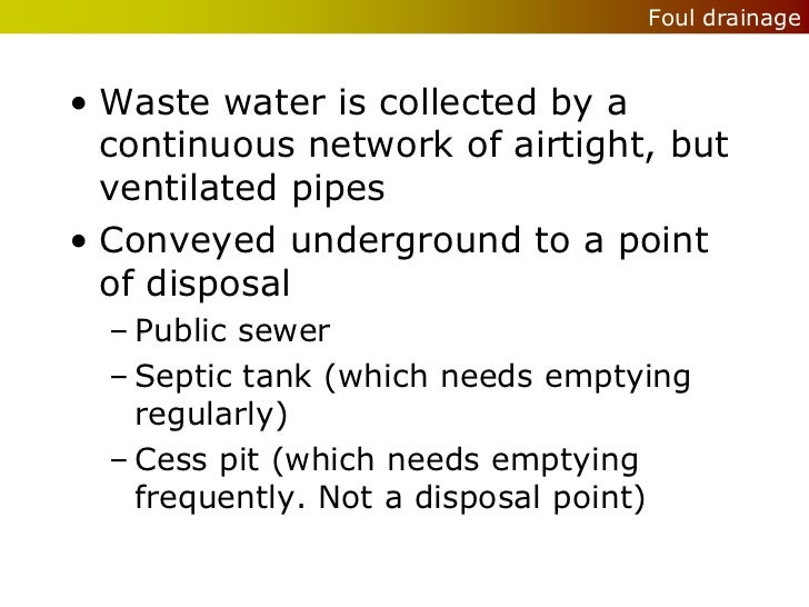 Wet Services Drainage