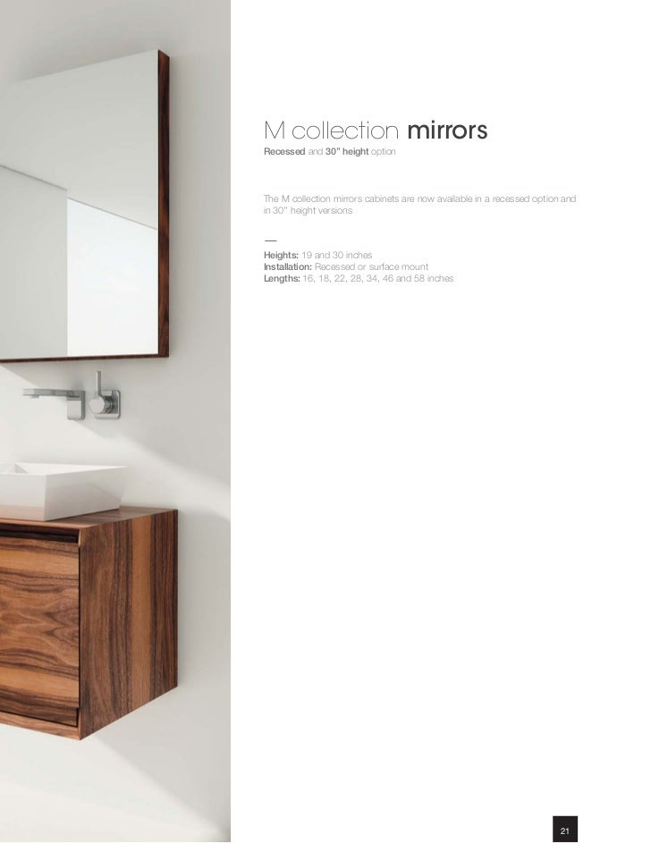 M Collection MirrorsRecessed ...