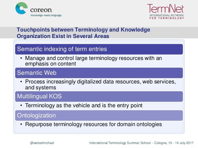 TSS 2017: Terminology and Knowledge Organization Systems Slide 3