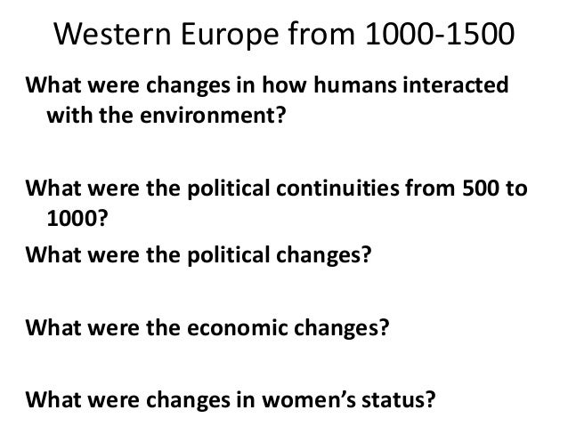 an evaluation of the political changes after the crusades in europe The crusades were a group of holy wars fought between european   numerous effects of the christian crusades in the middle east had a positive out  come.