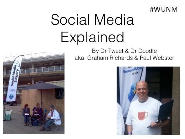 Social Media Explained  #WUNM  By Dr Tweet & Dr Doodle aka: Graham Richards & Paul Webster