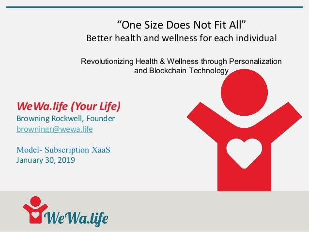 "WeWa.life (Your Life) Browning Rockwell, Founder browningr@wewa.life Model- Subscription XaaS January 30, 2019 ""One Size D..."