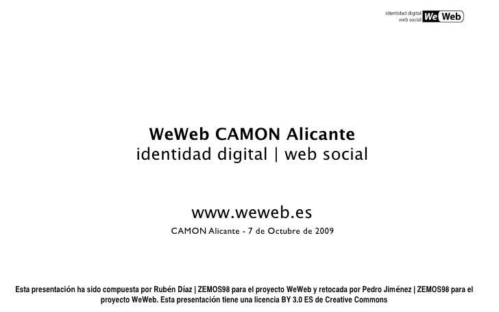 WeWeb CAMON Alicante                                   identidad digital | web social                                     ...