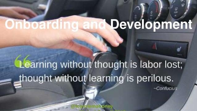 Onboarding and Development @icarolemahoney