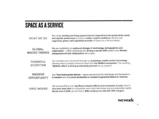 WeWork Series D Pitch Deck ($355M Raised) Slide 3