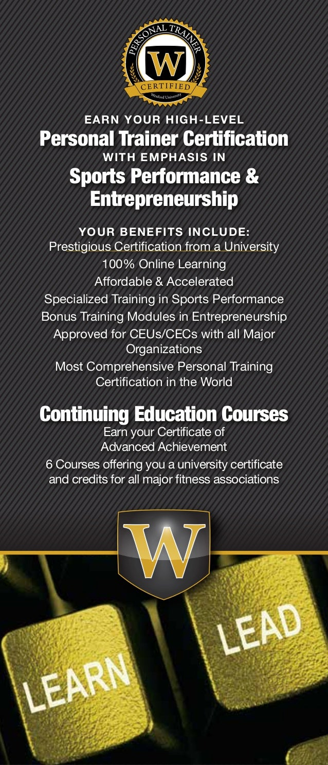 Wexford university online fitness training degree personal trainer certification wexford 2 xflitez Choice Image
