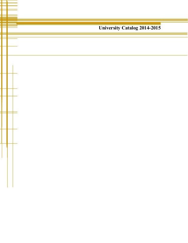 University Catalog 2014-2015