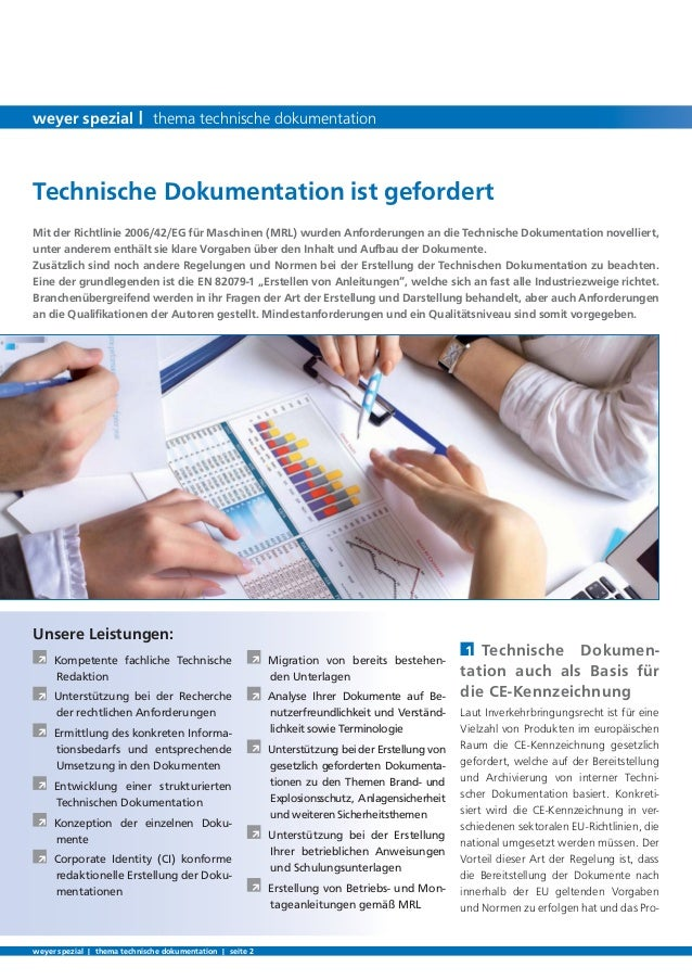 Technische Dokumentation   weyer spezial Slide 2