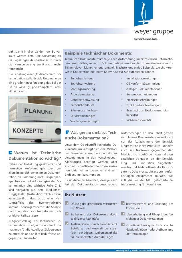 Technische Dokumentation   weyer spezial Slide 3