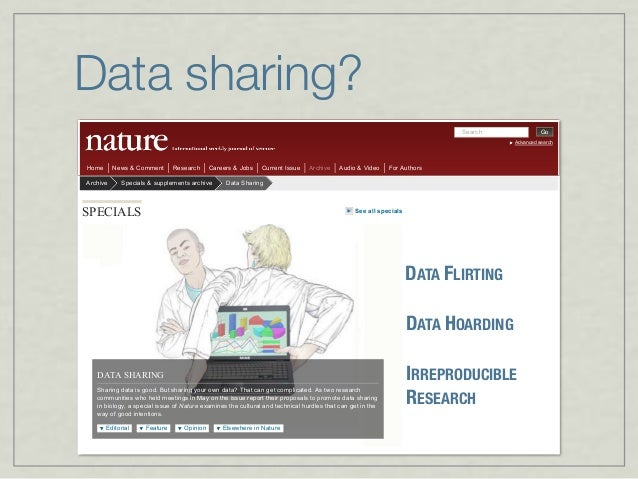 Data sharing Search Go Advanced search Home News & Comment Research Careers & Jobs Current Issue Archive Audio & Video For...