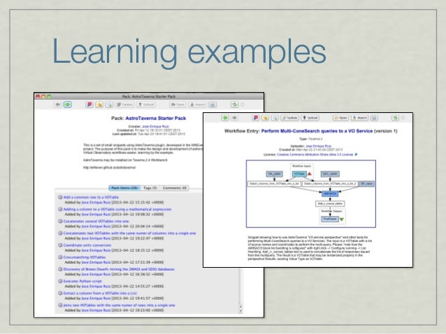 Learning examples