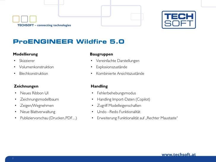 ProENGINEER Wildfire 5.0  Modellierung                                 Baugruppen     • Skizzierer                        ...