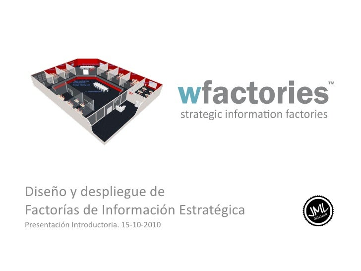 Diseño y despliegue deFactorías de Información EstratégicaPresentación Introductoria. 15-10-2010