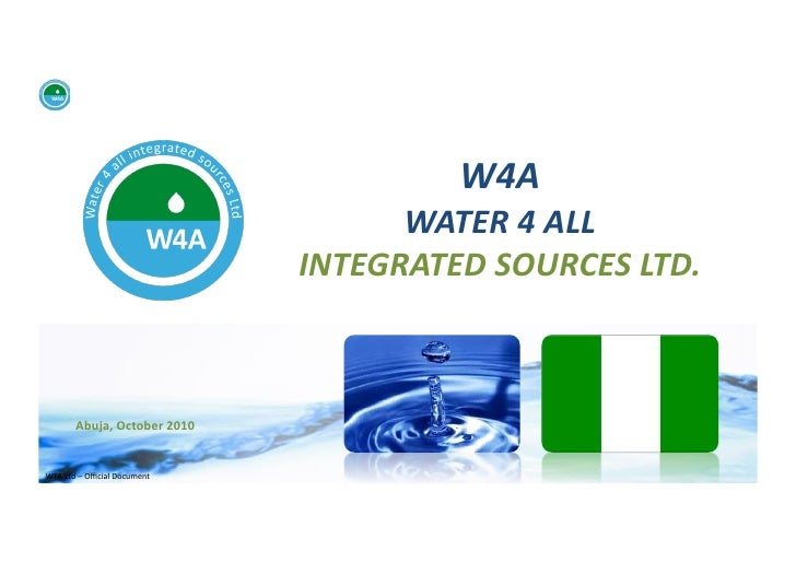 W4A                                                   WATER 4 ALL                                              I...