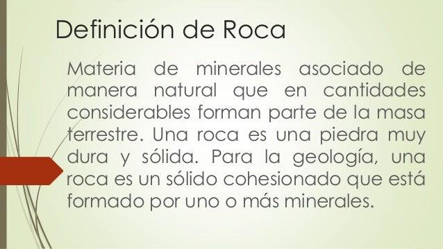 Las rocas for Roca definicion