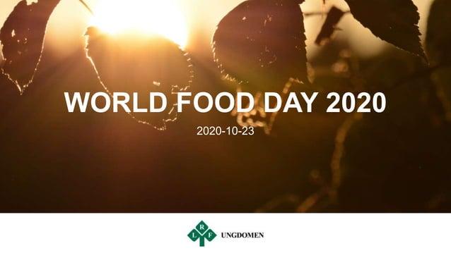 WORLD FOOD DAY 2020 2020-10-23