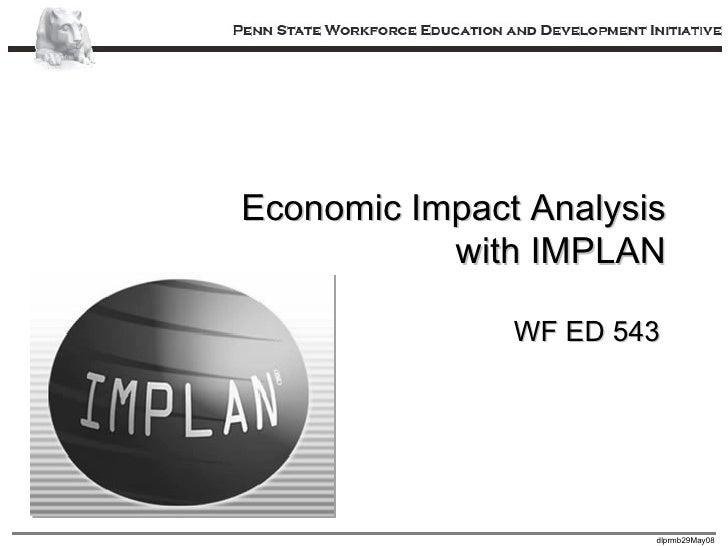 Economic Impact Analysis with IMPLAN WF ED 543
