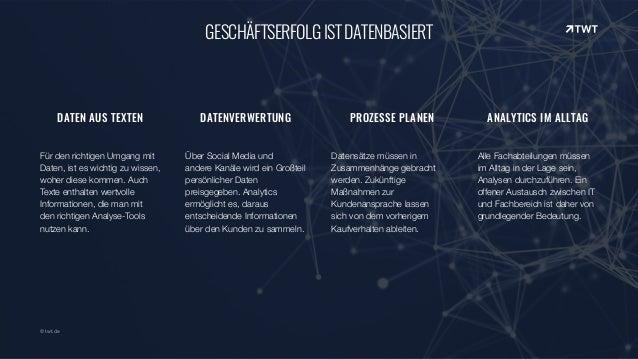 © twt.de GESCHÄFTSERFOLGISTDATENBASIERT DATEN AUS TEXTEN Für den richtigen Umgang mit Daten, ist es wichtig zu wissen, woh...