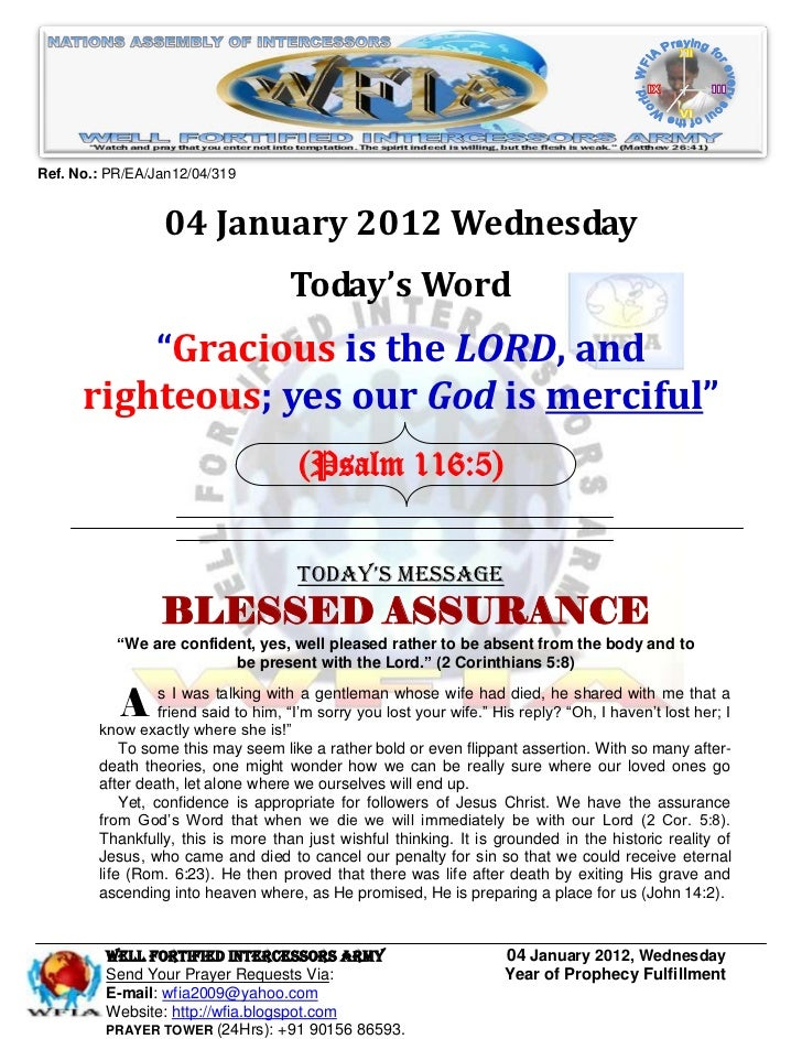 Ref. No.: PR/EA/Jan12/04/319                 04 January 2012 Wednesday                                    Today's Word    ...