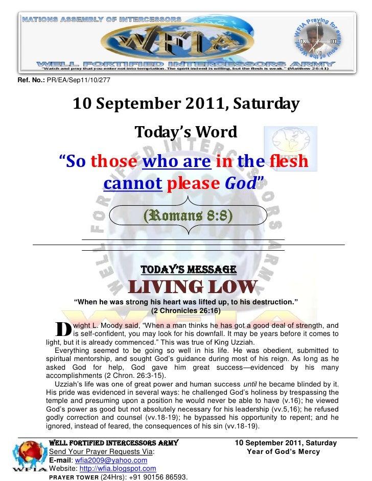 Ref. No.: PR/EA/Sep11/10/277                10 September 2011, Saturday                                    Today's Word   ...