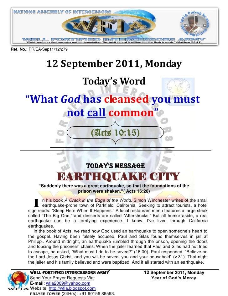Ref. No.: PR/EA/Sep11/12/279                 12 September 2011, Monday                                   Today's Word     ...