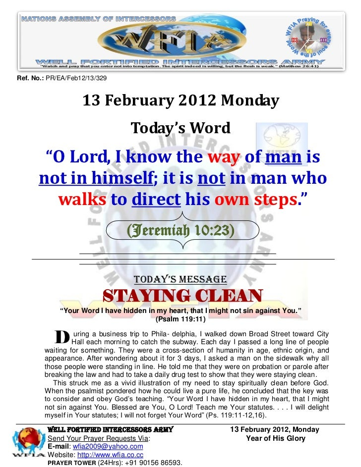 Ref. No.: PR/EA/Feb12/13/329                    13 February 2012 Monday                                   Today's Word    ...