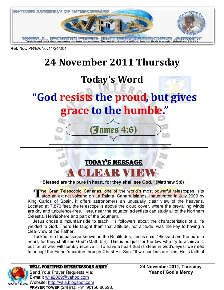 Ref. No.: PR/EA/Nov11/24/304                24 November 2011 Thursday                                    Today's Word     ...