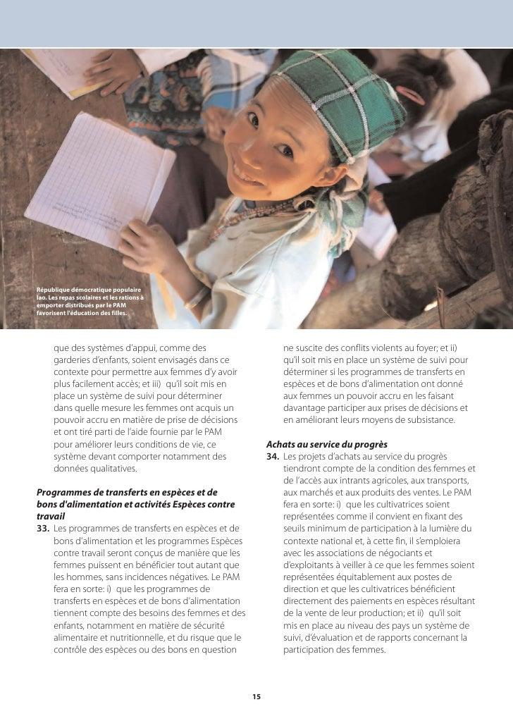 République démocratique populaire lao. Les repas scolaires et les rations à emporter distribués par le PAM favorisent l'éd...