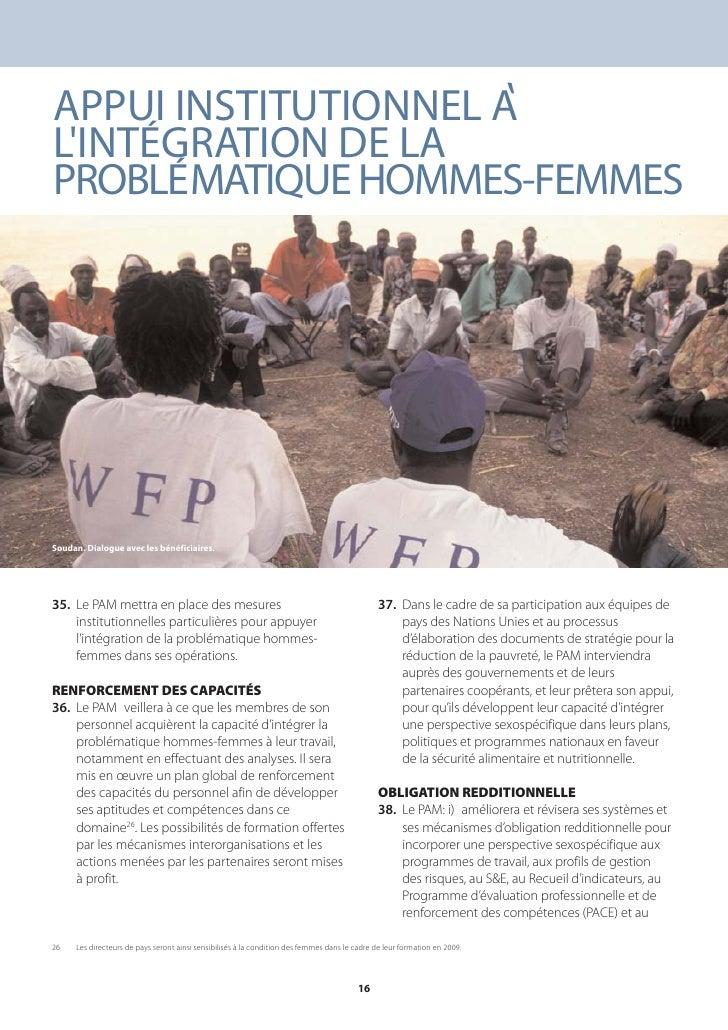 , APPUI INSTITUTIONNEL A L'INTÉGRATION DE LA PROBLÉMATIQUE HOMMES-FEMMES     Soudan. Dialogue avec les bénéficiaires.     ...