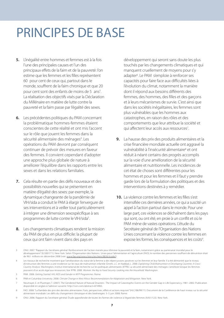 PRINCIPES DE BASE 5. L'inégalité entre hommes et femmes est à la fois                                                    d...
