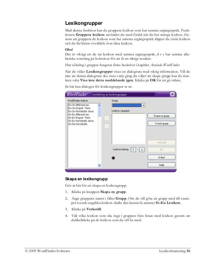 2009 WordFinder Software Lexikonhantering 36  37. 2458381eca8c2